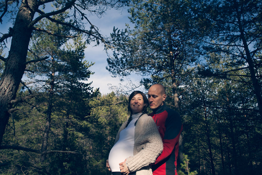"Pregnancy photoshoot at ""Sierra de Guara"""