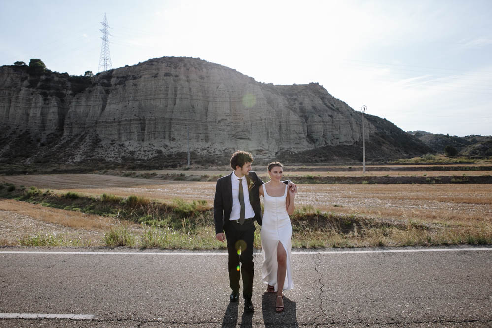 Boda al aire libre y First Look