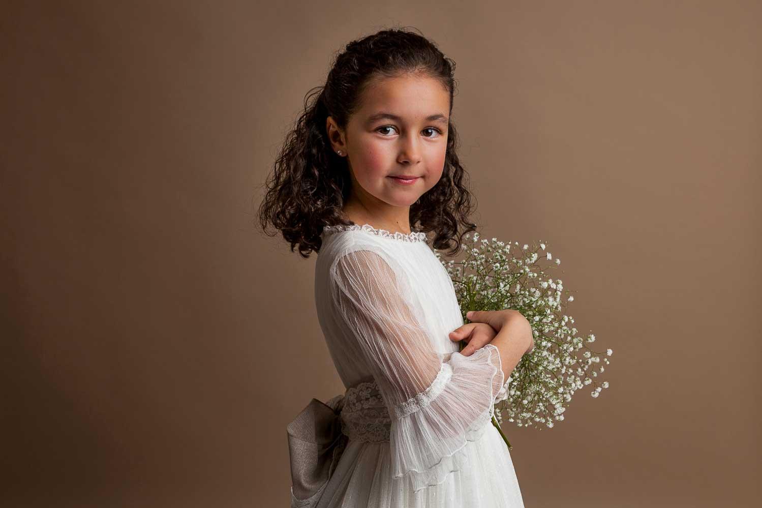foto estudio comunion niña