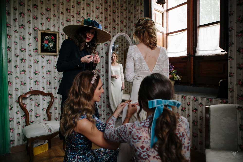 boda civil novia vestido