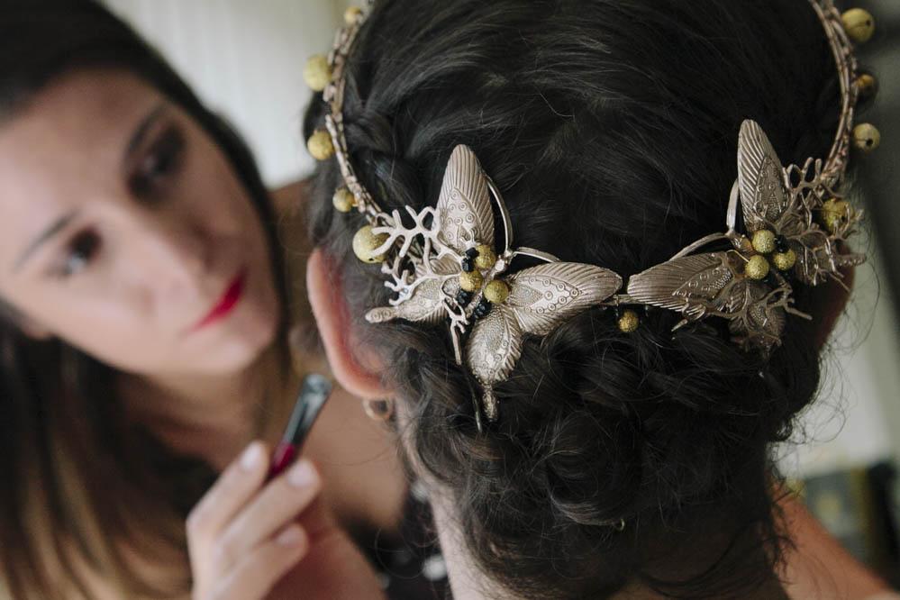 novia boda preparativos tocado