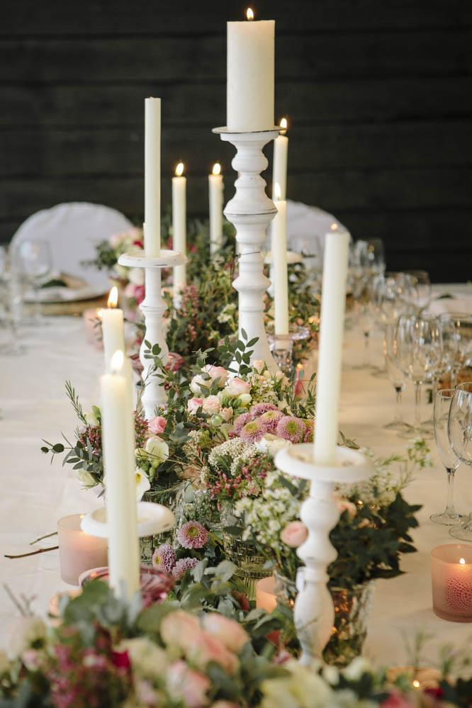 decoración boda en la nieve
