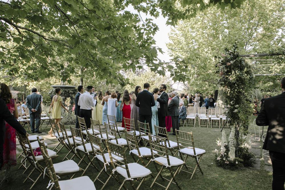 boda al aire libre Casa de las Hiedras