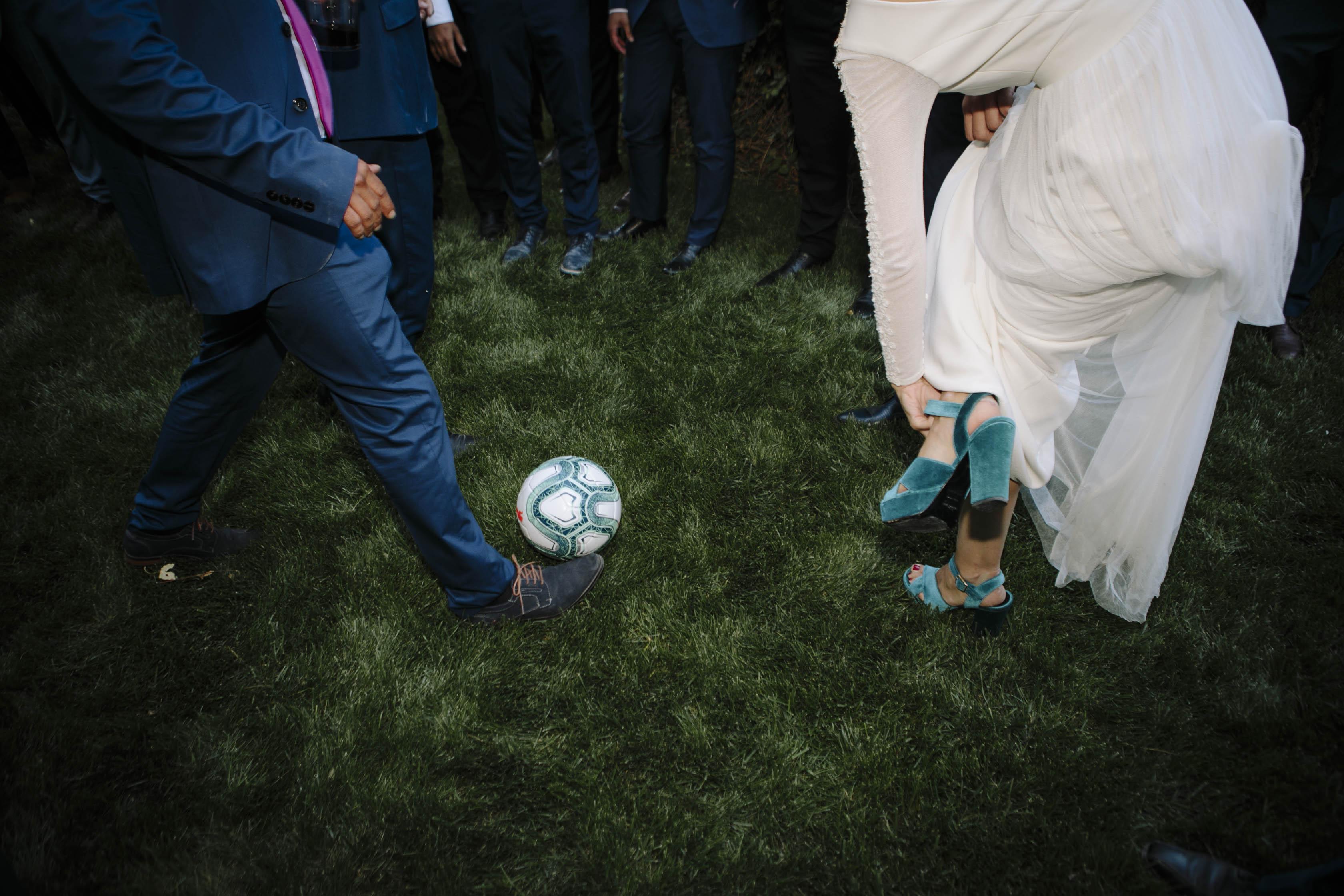 zapatos de novia de terciopelo