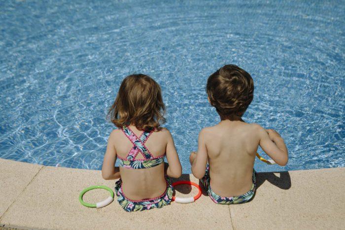 sesión de fotos en piscina