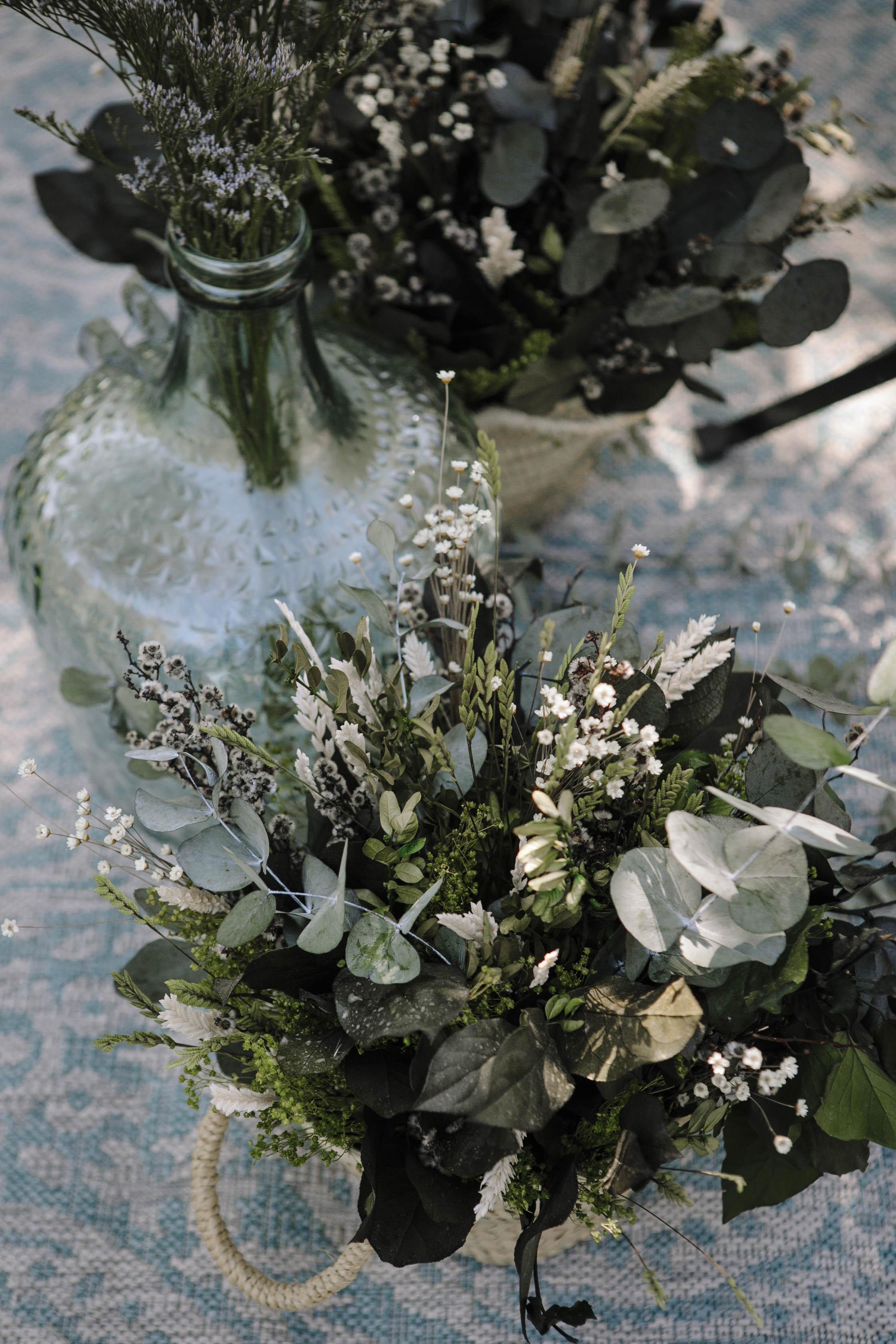 decoración de boda eucaliptus