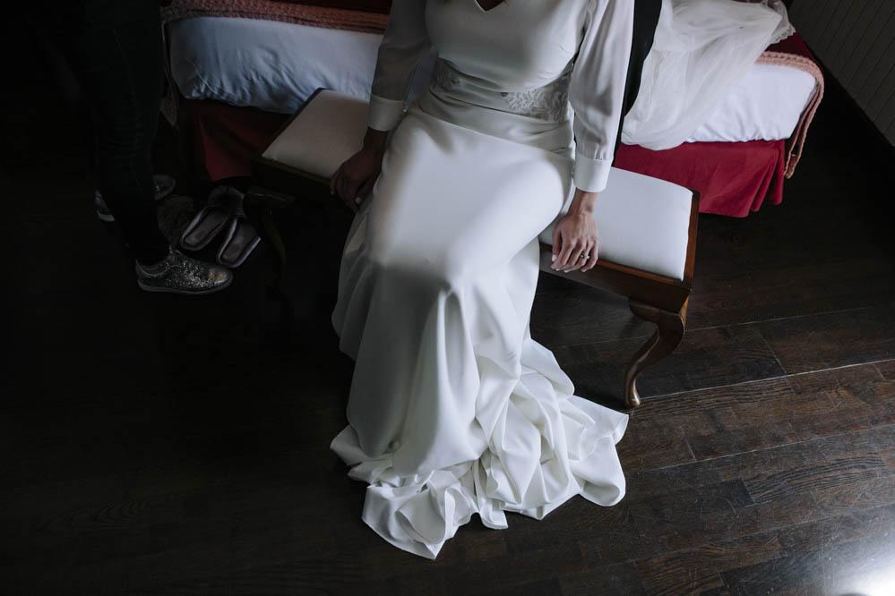 preparativos novia en Ligüerre de Cinca 1