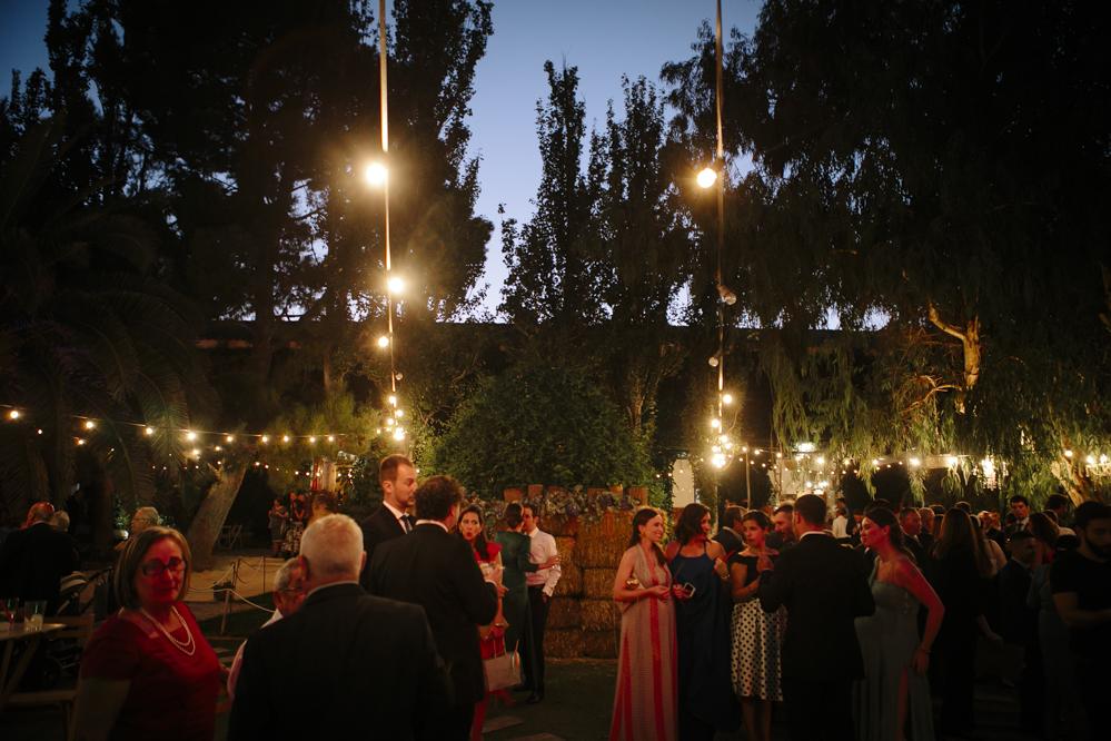 jardín de noche en Soto de Bruil