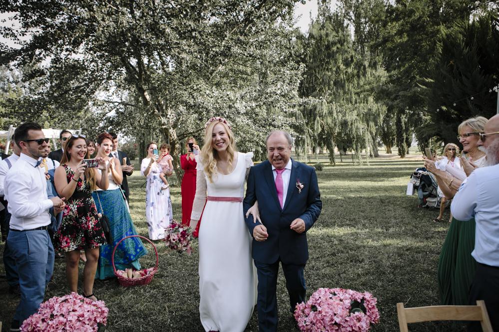 llegada novia y padrino