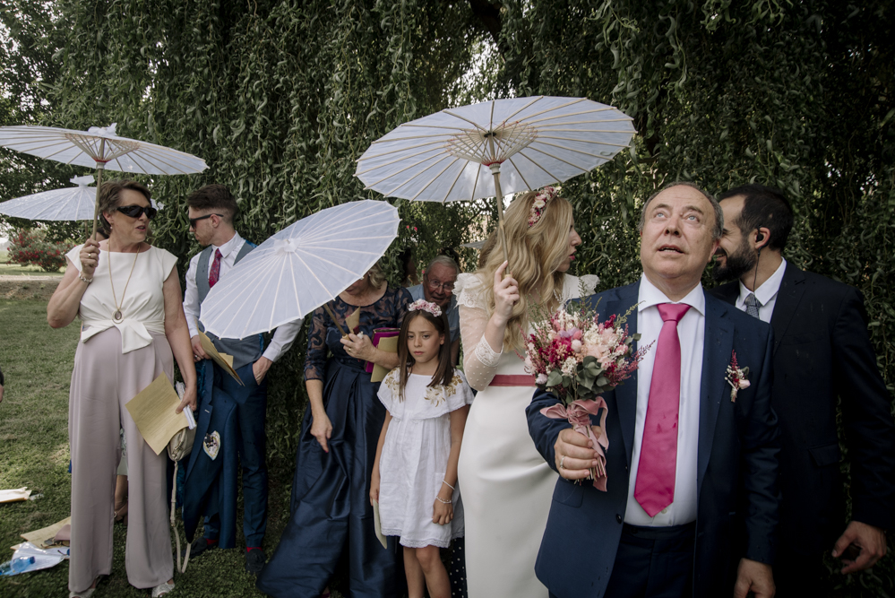 boda y lluvia