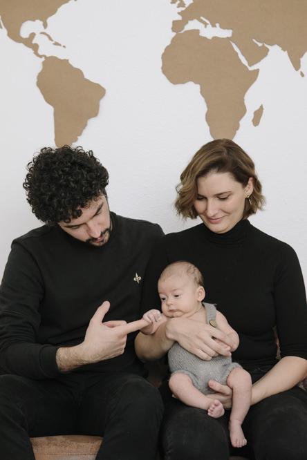 papas y bebé